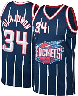 Pdqgd Mens Olajuwon Jersey Basketball Adult Houston 34 Hakeem