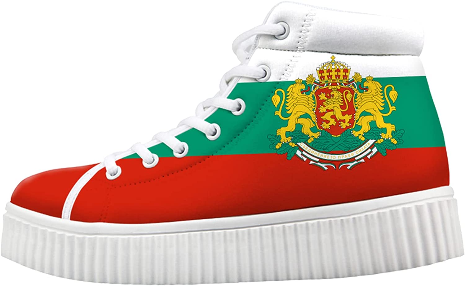 Bulgaria Flag National Import Emblem Wedge 2021 autumn and winter new for Women Sneakers Fashion H