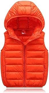 Boys Girls Winter Hooded Puffer Vest Kids Lightweight Sleeveless Jacket