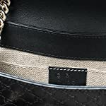 Fashion Shopping Gucci Micro Guccissima Soft Margaux Black Leather Shoulder Handbag Bag New Small