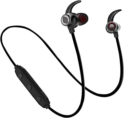 WeCool BassKing X5 in Ear High Bass Sports Headsets || Bluetooth Headset Wireless ||Bluetooth Headphones Wireless with mic || Wireless Earphones || Waterproof Headphones + Free Carry Case (Black)
