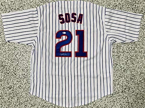Chicago Sammy Sosa Signed Jersey Beckett BAS Witnessed Auto Authentication COA - Autographed MLB Jerseys