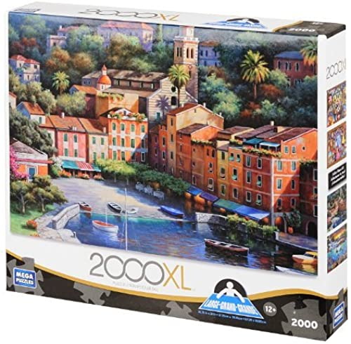 Deluxe Italian Village Harbor, 2000-Piece by Mega Puzzles