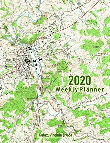 2020 Weekly Planner: Galax, Virginia (1965): Vintage Topo Map Cover