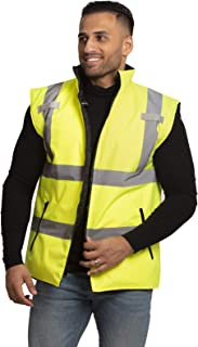 JORESTECH High Visibility Reversible Insulated Safety Vest with ANSI Compliant Reflective Tape Bodywarmer (Extra Small)