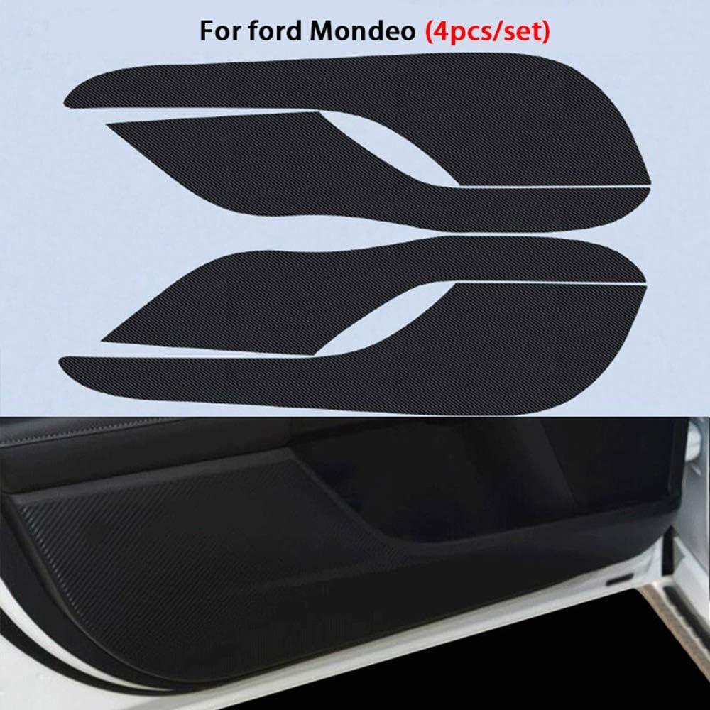 LUVCARPB 4 pcs Auto We OFFer at cheap prices Car Door Anti National products Carbon 3D Kick Mat Fiber Stick