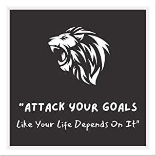 The Artist Lion Symbol Motivational Quote HD Print Wall Art Framed Painting Without Glass for Living Room, Bedroom, Office...
