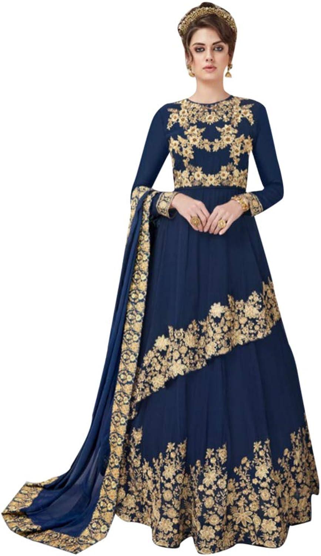 Indian Ethnic Salwar Kameez Skirt style Heavy Embroidery Muslim Festive Wedding Cocktail 7219 4