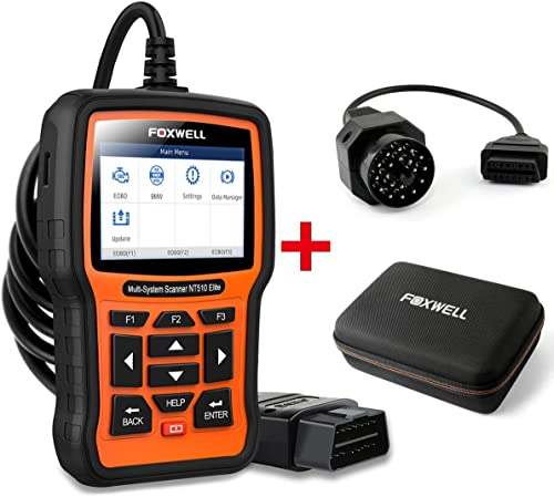 discount FOXWELL online Car Full-System Diagnostic Tool NT510 Elite for BMW with EVA Case online and 20Pin Adapter online