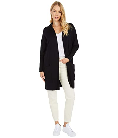 PACT Organic Cotton Airplane Cardigan (Black) Women