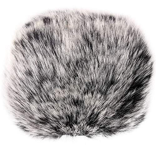 ChromLives Muff para el Parabrisas del Micrófono del Exterior Furry se Adapta a la Gubierta Contra el Viento del Parabrisas Zoom H6 Mic para el Zoom H5 H6 y más, Blanco y Negro