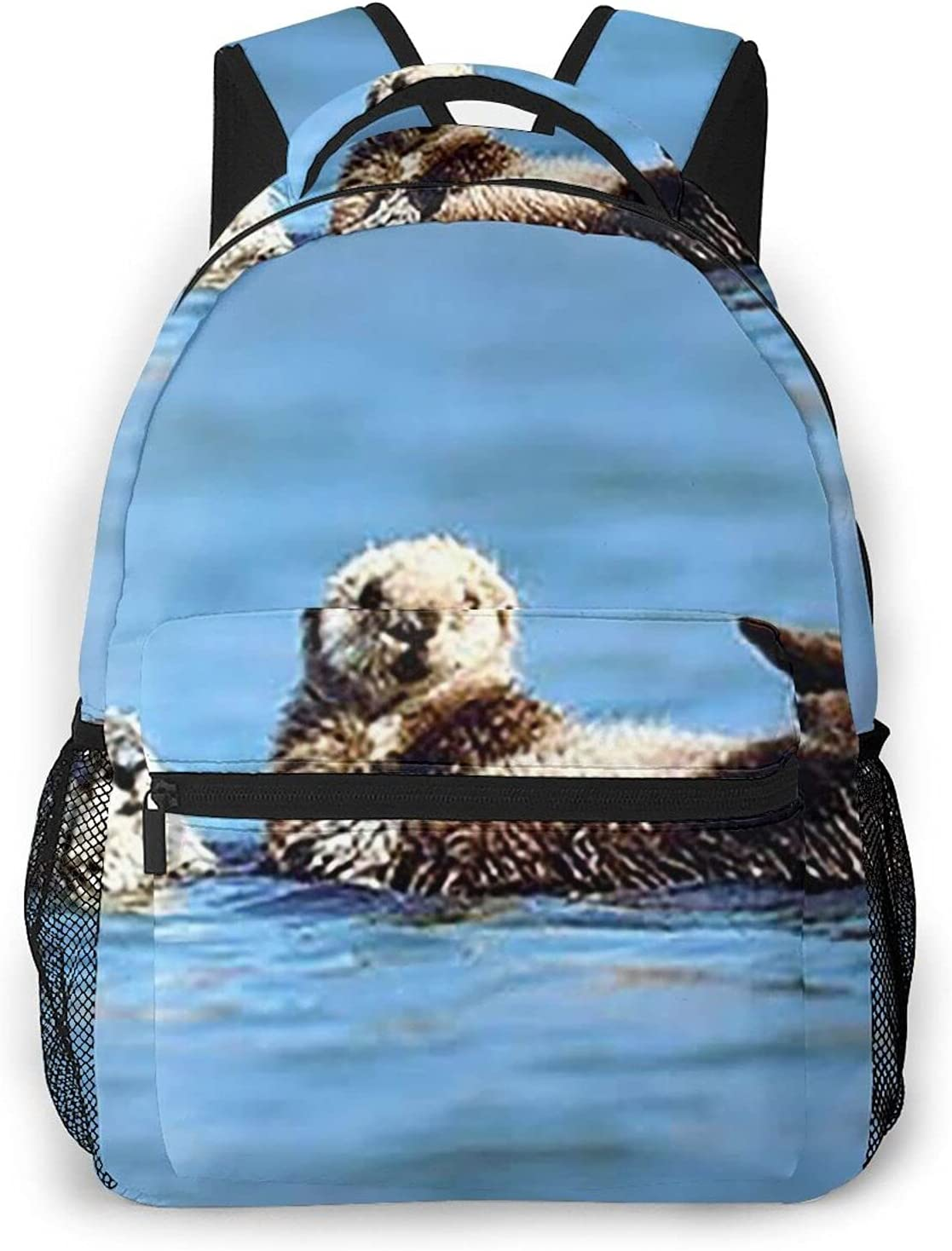 Sea Otter Pup Baby Travel Rucksack Backpa Daypack Laptop Tucson Max 67% OFF Mall Student