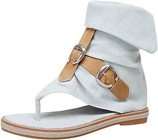 Femme Femmes Rivets pointus Bout Ouvert Sandales Plates Tongs À Enfiler Chaussures Taille
