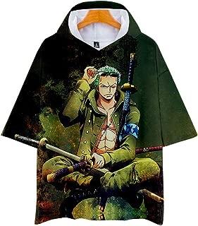 Siawasey Anime One Piece Luffy Zoro Chopper Short Sleeve T-Shirt Tops Tee Sweater Hoodie Costume