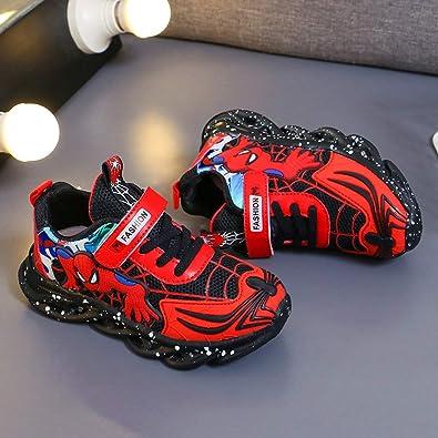 motif Spider-Man Malltea Baskets clignotantes /à LED pour enfants