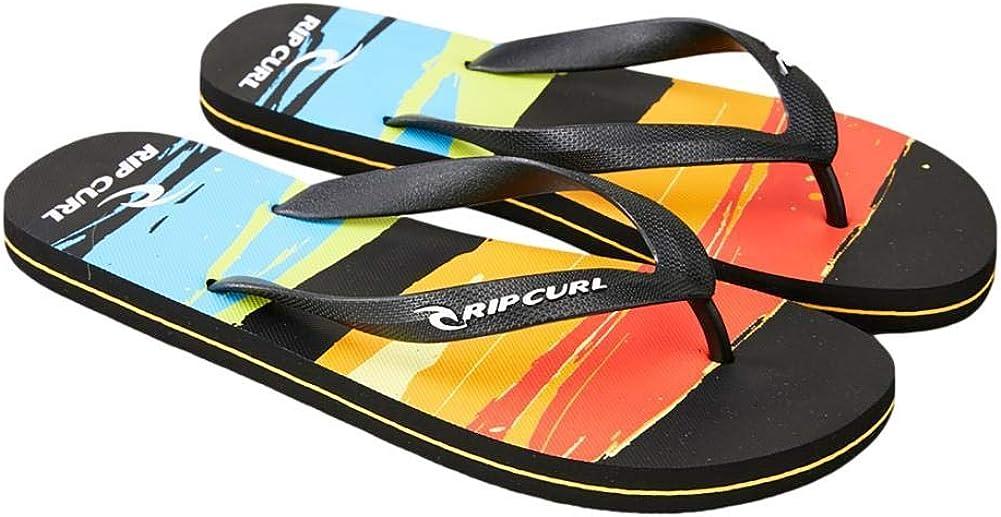 Rip Curl Resin Blown Out Flip Flops - Black/Orange (UK