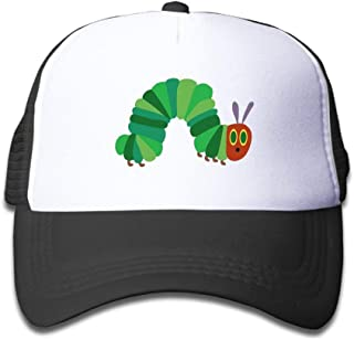 The Very Hungry Caterpillar Trucker Hat Adjustable Back Mesh Cap for Kid Black