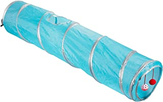 Juvale Pack of 1 Pet Agility Play Tunnel Tube Accessory Gift - Pet Training Toy for Small Pets, Dogs, Cats, Rabbits, Teal - 47 x 9.75 inches