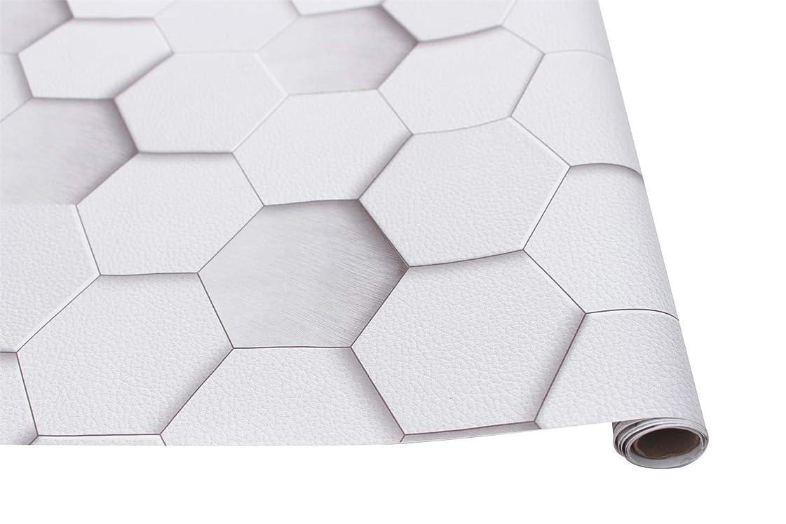 掘る法廷凝視HOMEME 壁紙シール リメイクシート DIY 洋風 45x600cm 防水 耐熱 防カビ 防汚 蜂の巣型 12ヶ月保証 接着剤不要