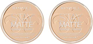 Rimmel Rimmel Stay Matte Pressed Powder, Creamy Natural, Pack of 2, 0.49 Fl Oz