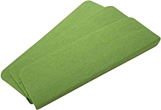 15 Piece Non Slip Rectangular Carpet Stair Treads Mats Floor Mat Protection Cover Step Staircase Pads (Color : Green, Size...