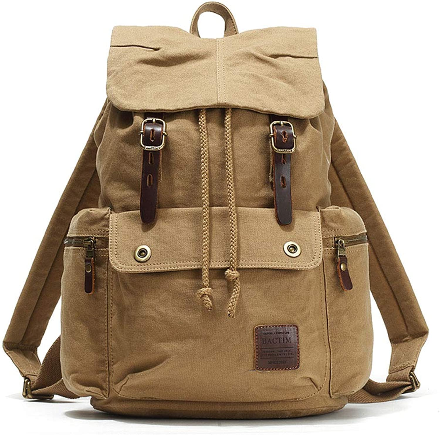 MXD Canvas Bag Men's Fashion Retro Style Casual Outdoor Travel Male Youth Khaki Backpack Wild