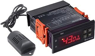 KETOTEK Higrómetro Controladores de humedad Digital Sensor LED 110V-220V Monitor de humedad Medidor de humedad Mini tamaño Casa Planta de semillero Germinación Jardín Fermentación (110V-220V)