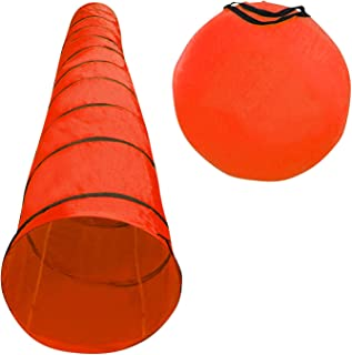 "Houseables Dog Tunnel, Agility Equipment, 18 Ft Long, 24"" Open, Polyester, Play Tunnels for Training Small & Medium Dogs, Park Playground Toy, Large Obstacle Course for Pets, with Carrying Case"