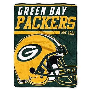 The Northwest Company NFL Green Bay Packers 40-Yard Dash Micro Raschel Throw, 46  x 60 , Dark Green