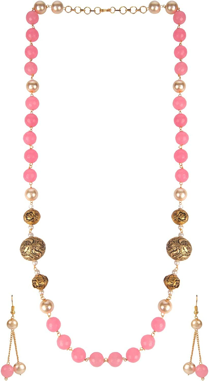 Efulgenz Indian Bollywood Bridal Wedding 14 K Gold Plated Faux Pearl Crystal Rhinstone Choker Necklace Earring Jewelry Set (Style 2)
