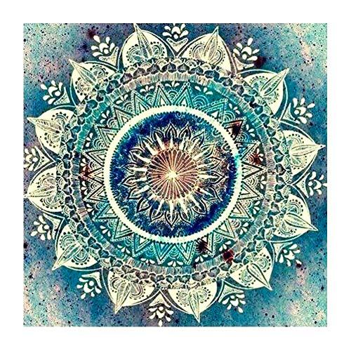 Soleebee 5D DIY Diamant Full Malerei Leinwand Strass Malerei Stickerei Bilder Kunst Handwerk Diamant Painting Full Kits für Haus Wand Dekor (30 x 30 cm - Mandala A)