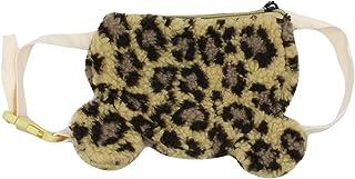 Kids Crossbody Purse Handbag Soft Plush Leopard Printed Shoulder Bags Cute Animal Ear Little Girl's Purse