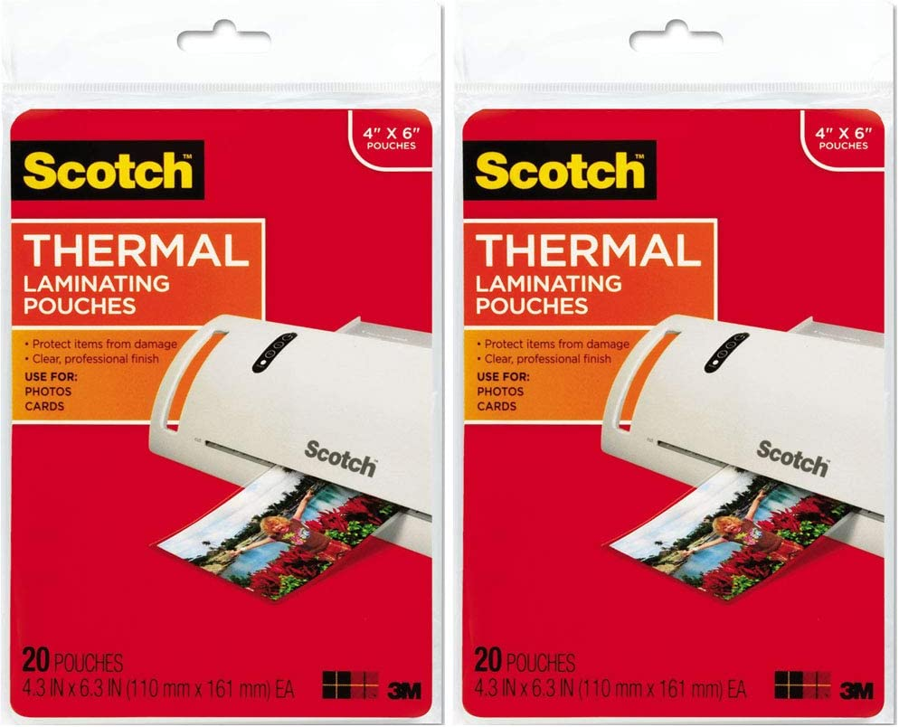 Scotch Thermal Popularity Laminating Pouches 4.37 x Inches Portland Mall 20 6.36