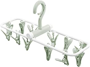 HOUZE LN-5812- Travel Friendly Clustered Pegs with Foldable Rectangle Frame (12 Pegs) Green