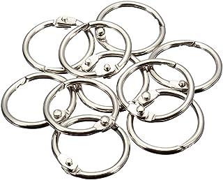 MyLifeUNIT Book Rings, Loose Leaf Binder Rings, 50 Pack (25 MM)