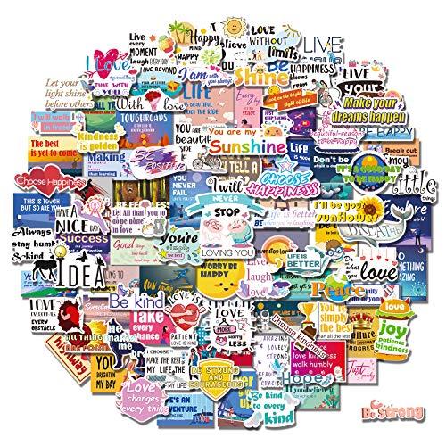 150pcs Inspirational Stickers for Laptop, Reward Motivational Stickers for Water Bottle, Teens Students, Teachers, Waterproof Vinyl Positive Word Stickers