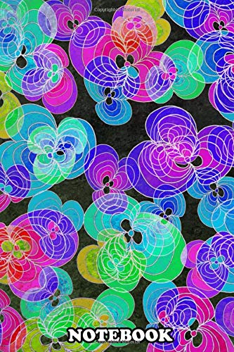 Notebook: Colorful Flower Pattern 01 Abstract Digital Art , Journal for Writing, College Ruled Size 6' x 9', 110 Pages