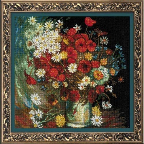 RIOLIS In a popularity 1591 - Still Life with After Van free Flowers Meadow Roses and