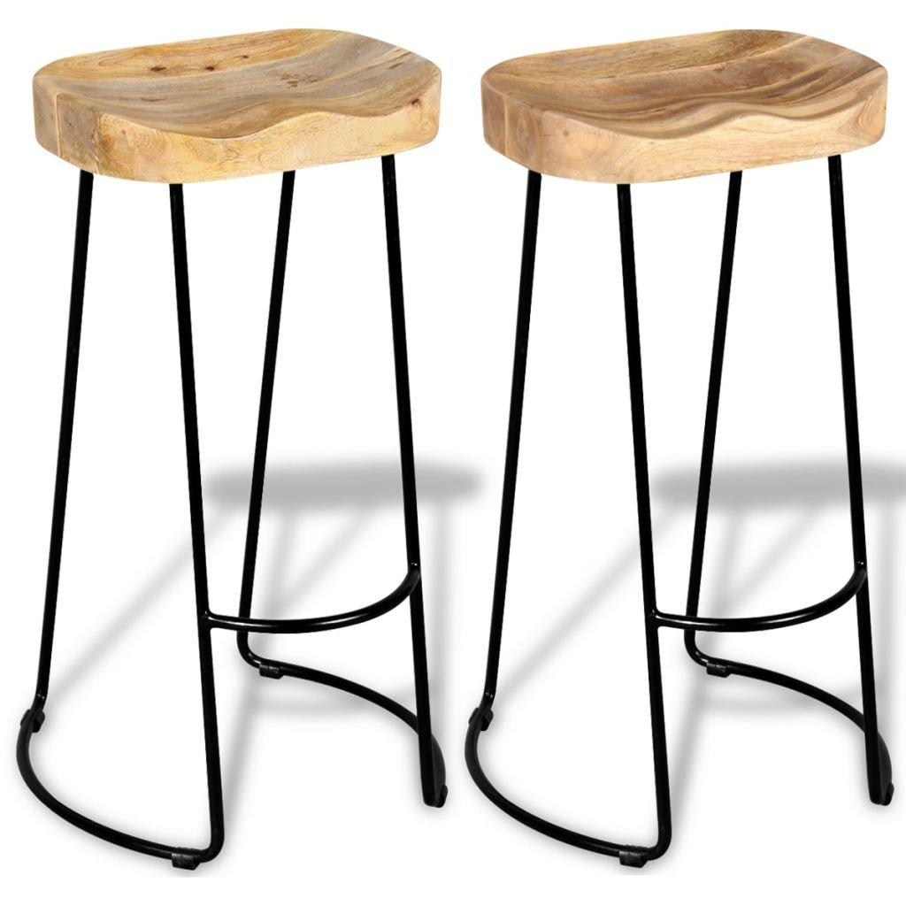 Festnight Wooden Breakfast Kitchen Bar Stools Chair Set Of 2 Buy Online In Cayman Islands At Desertcart