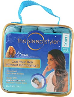 Dsstyle Hair Curlers 8PCS Nighttime Hair Curlers Heat-free Long Hair Rollers DIY Curls Styling Kit