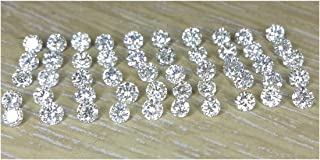 Gemhub Natural Loose Diamond Wholesale Lot 50pc 1.7mm 1.00cts I1 Clarity J Color Round