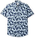 Amazon Essentials - Camicia a maniche corte, da uomo, con stampa, Palm Leaf, US XL (EU XL - XXL)