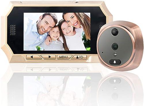 todos los bienes son especiales GW Campanello per videocitofono elettronico intelligente Senza Senza Senza fili Ojo de Gato por campanello Video WiFi 720P HD y PanTalla de 4,3 , visualización remota de teléfono Celular  solo para ti