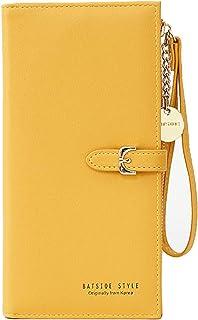 Fanspack Lady Wallet Long Elegant Multipurpose Coin Purse Card Holder Simple Clutch Purse
