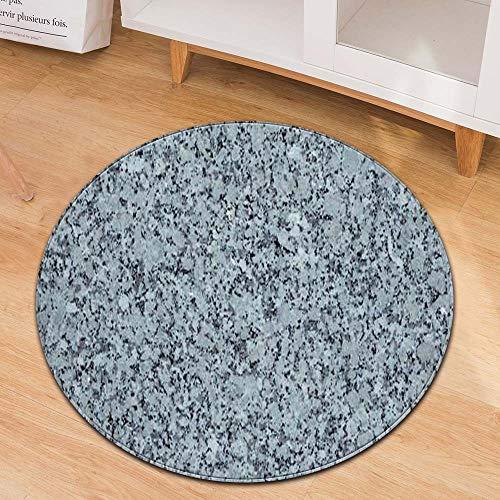 ZCXBB Nordic Mikrofaser Dichten Hanf Textur Design Runden Teppich Wohnzimmer Teppich Schlafzimmer Nachttisch Frisiertisch Teppich (Color : Blue, Size : 60cm)