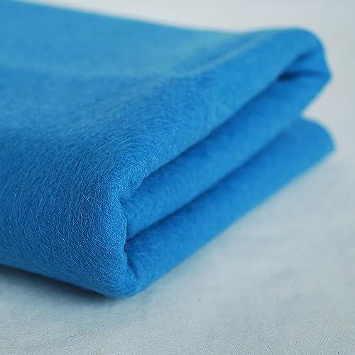 100% Pure Wool Felt Fabric - 1mm Thick - Dark Dusty Blau - 80cm x 1 Metre