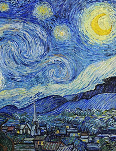 Van Gogh LARGE Notebook #7: Cool Artist Gifts - Starry Night Vincent Van Gogh Notebook College Ruled to write in 8.5x11 LARGE 100 Lined Pages