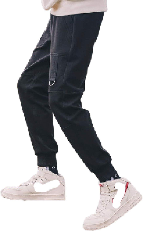 Huntrly Men's Japan Maker New Casual Trousers Multi-Pocket Elast Excellent Slim Fit Sports