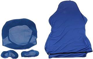 HomeDecTime Computer Stretch Swivel Gaming Racing Chair Slipcover Funda para Sillón - Azul, Individual