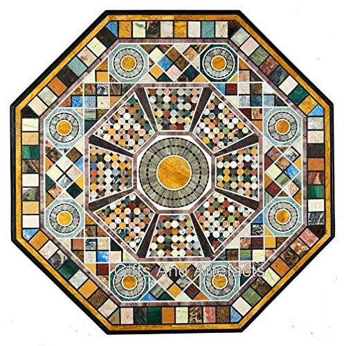 Regalos y Artefacts 70 pulgadas de mármol blanco mesa de la cocina del hotel redonda mesa de bar con piedras semi preciosas multi